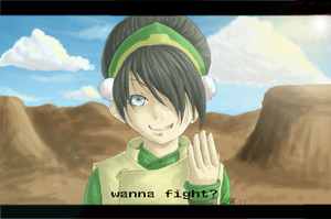 """""""wanna fight?"""" -toph- by sporkful-of-hearts"""