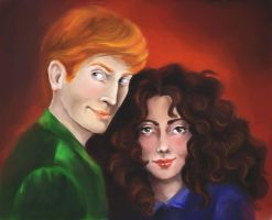 Ron and Hermione by Chashirskiy