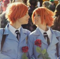 Hikaru and Kaoru Cosplay - All About Us by Artemisia-Amore