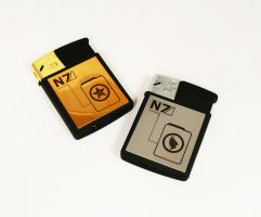 N7 lighters by Katlinegrey