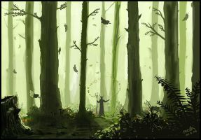 Healing the forest by Medhi