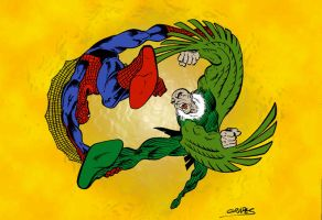 Spiderman Vulture by wjgrapes
