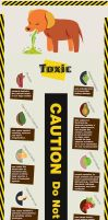 Dog Food Infographic - Toxic- Do not feed by KarinMind