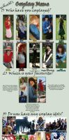 Cosplay Meme: Feb 2011 by evilfuzzle2
