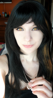 FFVIII Rinoa Heartilly Cosplay Wig/Makeup Test by Hamm-Sammich