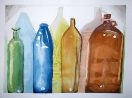 Bottles still life by OceansDream