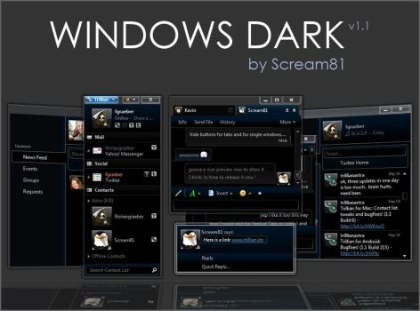 Windows Dark 5.5 by Scream81