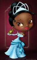 Tiana and the frog by AliciaBel