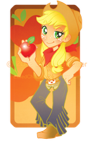 My Little Pony : Chibi Human Applejack by ExiledChaos
