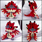 Chibi Rathalos Plush - Monster Hunter by xSystem