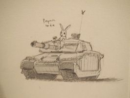 Tank Bunny by pigsnacks