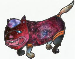 Psychedelic Universe Cat by 2eyes-97