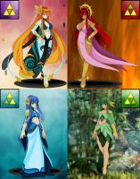 Legend of Zelda Goddesses by Mistress-DarkLoki