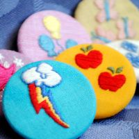 Cutie Mark Embroidered Magnets by Eviltwinpixie