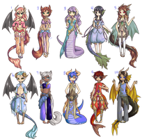 Auction Set3 [ Fantasy Adopts ] - C L O S E D by Jauturna