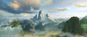 Badal Mountain by Jessada-Art