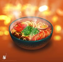 A Steaming Bowl by Noxmoony
