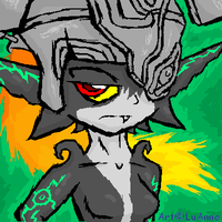 Midna ::bored:: by Luifex