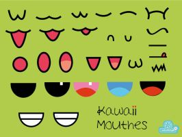 Kawaii Mouthes by andreachichizola