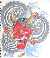 Japanese Hannya Mask Tattoo by bsguru