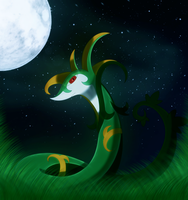 night of serperior by Elsdrake