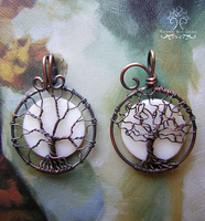 Twin Moons *SOLD* by RachaelsWireGarden