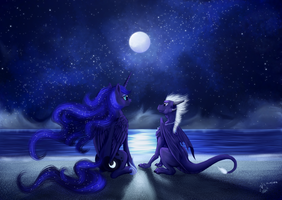 With Luna by Dalagar