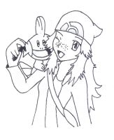 tamara and mudkip with stabilo by khfanT