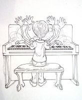 Corrie at the Piano by slang-tree