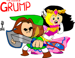 Legend Of Grump T-shirt design by wazzaldorp