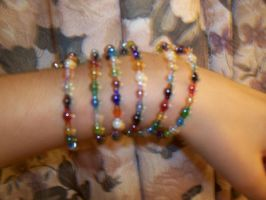 Rainbow Memory Wire Armlet by SvenIsMyHomeboy