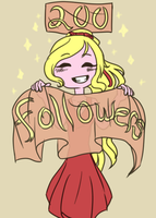 200 Followers (ask-the-ribbonprincess) by EuchredEuthanasia