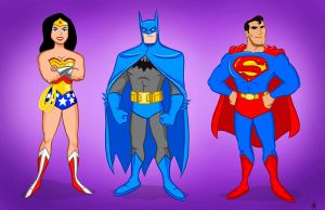 The JLA Trinity. by scootah91