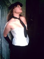 White corset stock 3 by DamicaStock