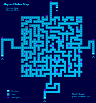 Abyssal Ruins Map -PKMN BW by JouVal