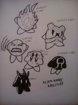 Alien Kirby abilities by PKstarship
