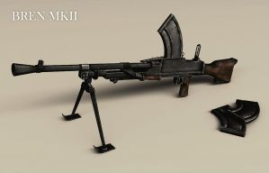 Bren Mk2 Light Machine Gun by VonBrrr