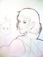 Howl and Calcifer WIP by cupcakejack