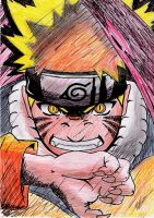 Naruto- 1st time Kyuubi by Spirogs