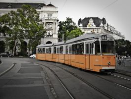 Tram No 2 at Kossuth square II by 5haman0id
