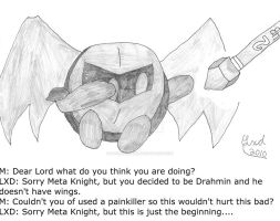 What if: MetaKnight as Drahmin by LordExDeath