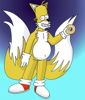 fusion of Homer and Tails by GaussianCat