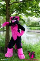 Pinky the Cougar cat by FurryFursuitMaker