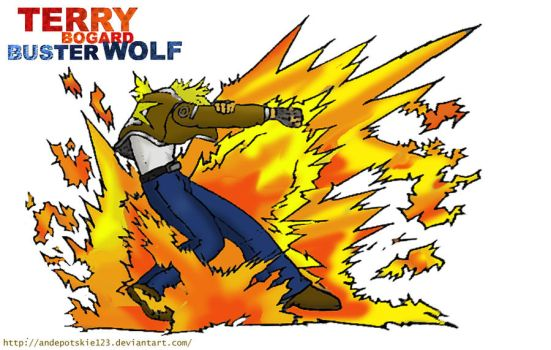 TERRY BOGARD Buster Wolf Garou by andepotskie123