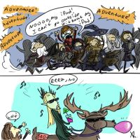 The Hobbit 2012, doodles by Ayej