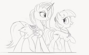 Fashion Horses Sketch. by NCMares