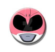 Pink Ranger Pin Back Button by Mutant-Cactus