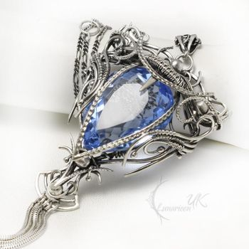 FAELTIEEN UMIRX silver and blue quartz by LUNARIEEN