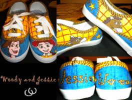Jessie and Woody Shoes by Rosemev