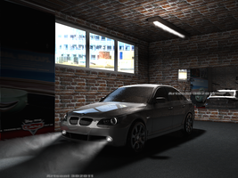 BMW 525i  Garage Scene in Winter.. by Artsoni3D